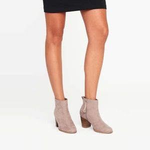 Taupe Side Zip Ankle Boots